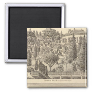Alden residence, Harmon Tract 2 Inch Square Magnet