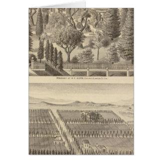 Alden residence, Harmon Tract Card