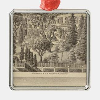 Alden residence, Harmon Tract Metal Ornament