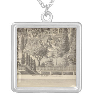 Alden residence, Harmon Tract Square Pendant Necklace