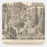 Alden residence, Harmon Tract Square Sticker