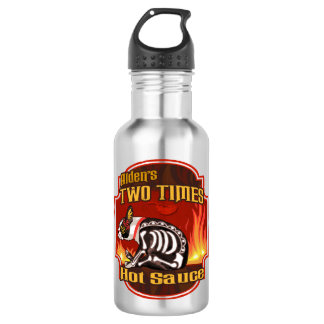 Alden's Two Times Hot Sauce 18oz Water Bottle