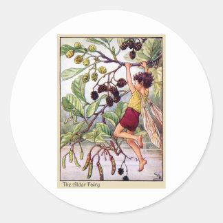 Alder Fairy Classic Round Sticker