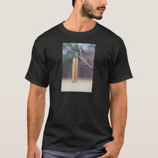 Alder twigs with yellow hanging catkins in spring T-Shirt