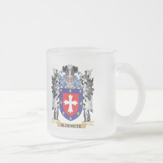 Alderete Coat of Arms - Family Crest 10 Oz Frosted Glass Coffee Mug