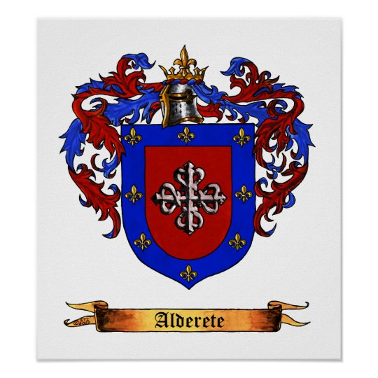 Alderete Coat of Arms Poster