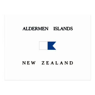 Aldermen Islands New Zealand Alpha Dive Flag Postcard
