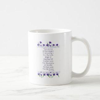 Aldo Leopold Quote- Spring Crocus Flowers Coffee Mug