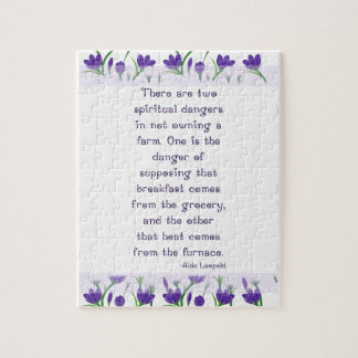 Aldo Leopold Quote- Spring Crocus Flowers Puzzles