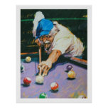 Aldo Luongo Billiards Posters