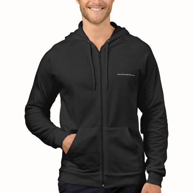 $47.95 ALDO Relaxing Guitar Fleece Sleeveless Zip Hoodie