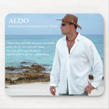 Beach Themed ALDO Relaxing Guitar Music Beach Vibe Mousepad