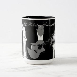 $28.75 ALDO Relaxing Guitar Music Black 15oz Two-Tone Mug