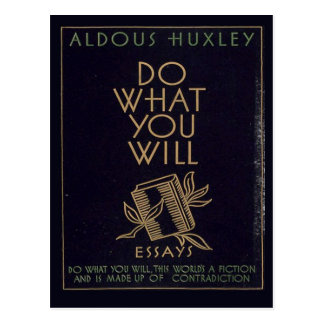 aldous huxley gifts on zazzle aldous huxley book postcard