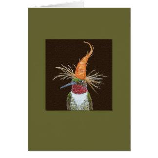 Aldous the hummingbird card