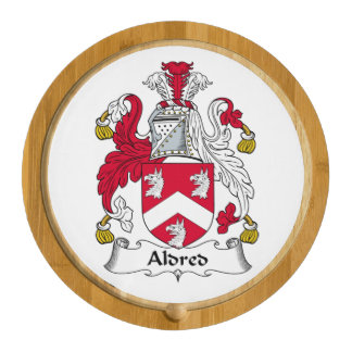 Aldred Family Crest Round Cheese Board