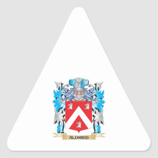 Aldried Coat Of Arms Triangle Sticker