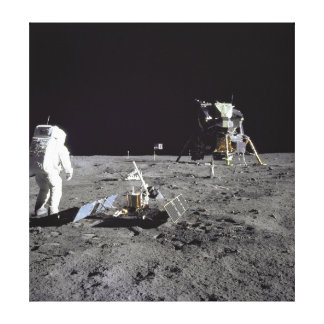 Aldrin Looks Back at Tranquility Base Canvas Print