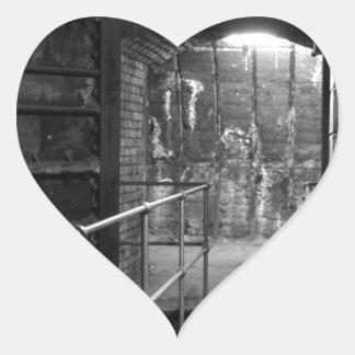 Aldwych Station Lift Shaft Heart Sticker