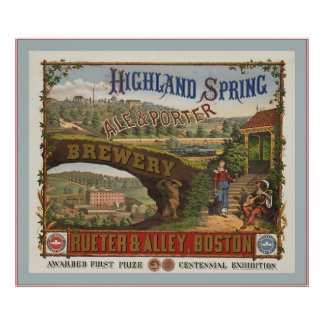 Ale And Porter Brewery ~ Vintage Advertising Poster