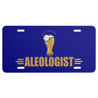 Ale, Beer Drinking License Plate