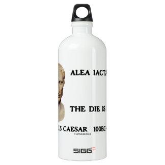 Alea Iacta Est el dado es César echado Botella De Agua