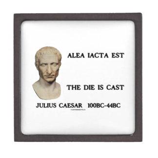 Alea Iacta Est el dado es César echado Caja De Regalo De Calidad