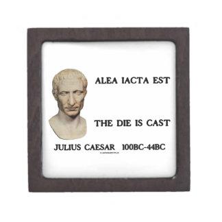 Alea Iacta Est el dado es César echado Cajas De Recuerdo De Calidad