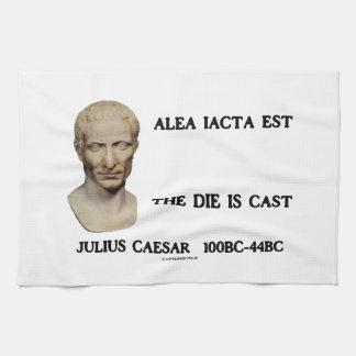 Alea Iacta Est el dado es César echado Toallas De Mano