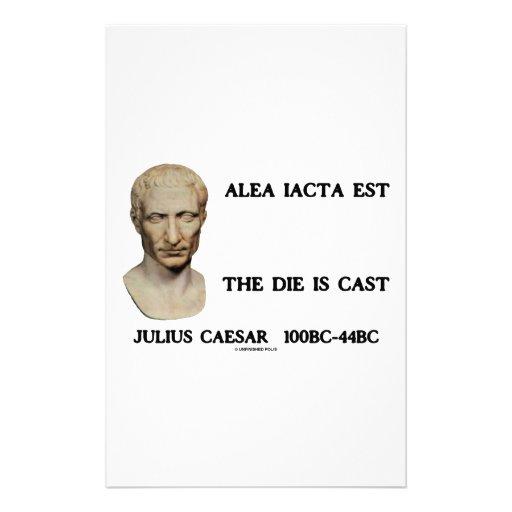 Alea Iacta Est el dado es César echado Papelería De Diseño