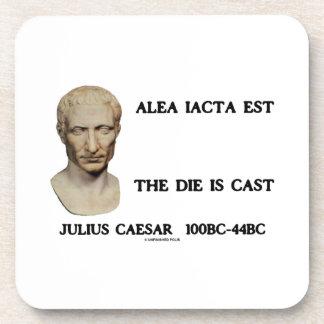 Alea Iacta Est el dado es César echado Posavasos De Bebidas