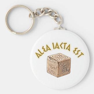 alea iacta est keychain