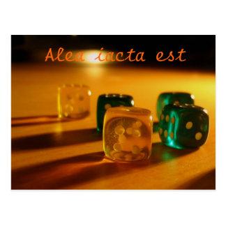 Alea iacta est postcard