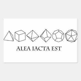 alea iacta est rectangular sticker