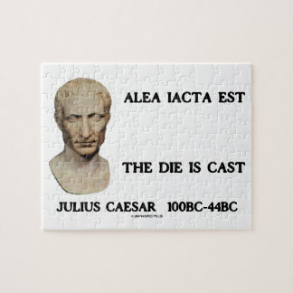 Alea Iacta Est The Die Is Cast Caesar Jigsaw Puzzle