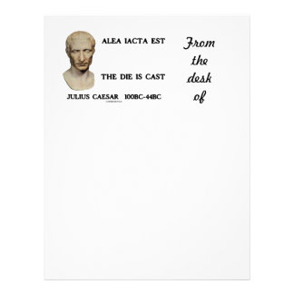 Alea Iacta Est The Die Is Cast Caesar Letterhead