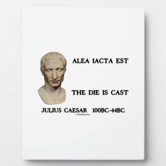 Alea Iacta Est The Die Is Cast Caesar Plaque