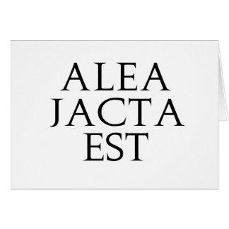 Alea Jacta Est Card