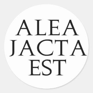 Alea Jacta Est Classic Round Sticker