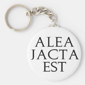 Alea Jacta Est Keychain