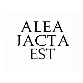 Alea Jacta Est Postcard