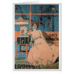 Aleardo Villa - Gas Aerogeno - 1902 Poster Greeting Card