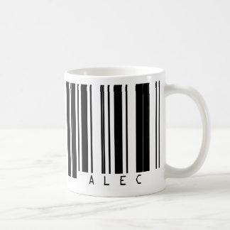 ALEC del código de barras Taza Básica Blanca
