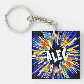Alec Name Art Keychain