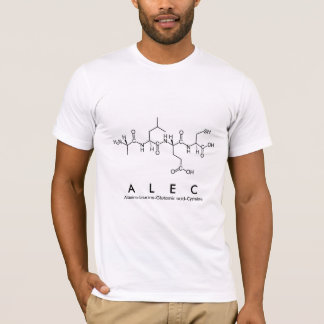 Alec peptide name shirt