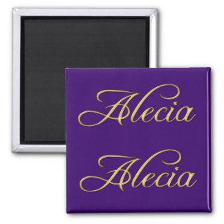 ALECIA Name-Branded Gift Magnet