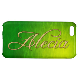 ALECIA Name Branded iPhone Cover