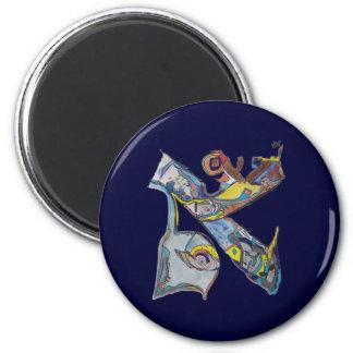 Alef 2 Inch Round Magnet