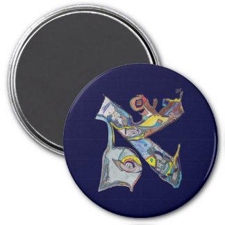 Alef 3 Inch Round Magnet