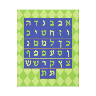 Alef Bet Canvas Art